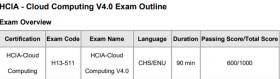 Preguntas del examen HCIA-Cloud Computing H13-511-ENU